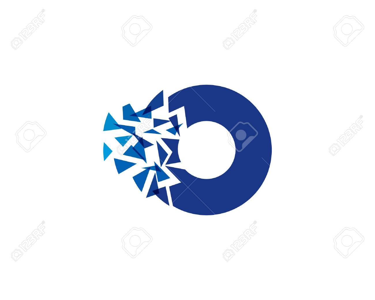 Letter O Icon Design Element - 80693406