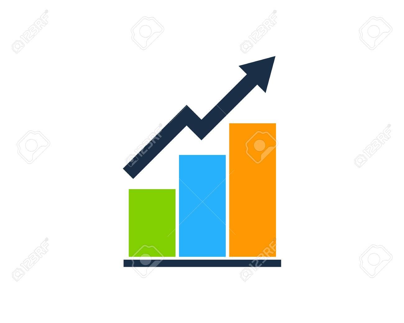 Stock Market Business Icon Logo Design Element - 80806099