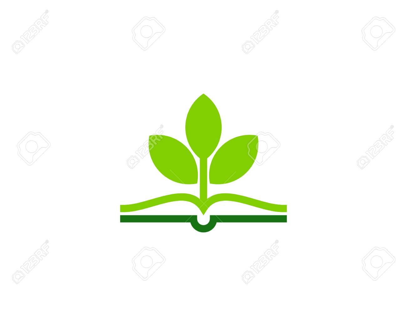 Plant Book Logo Icon Design - 100999187