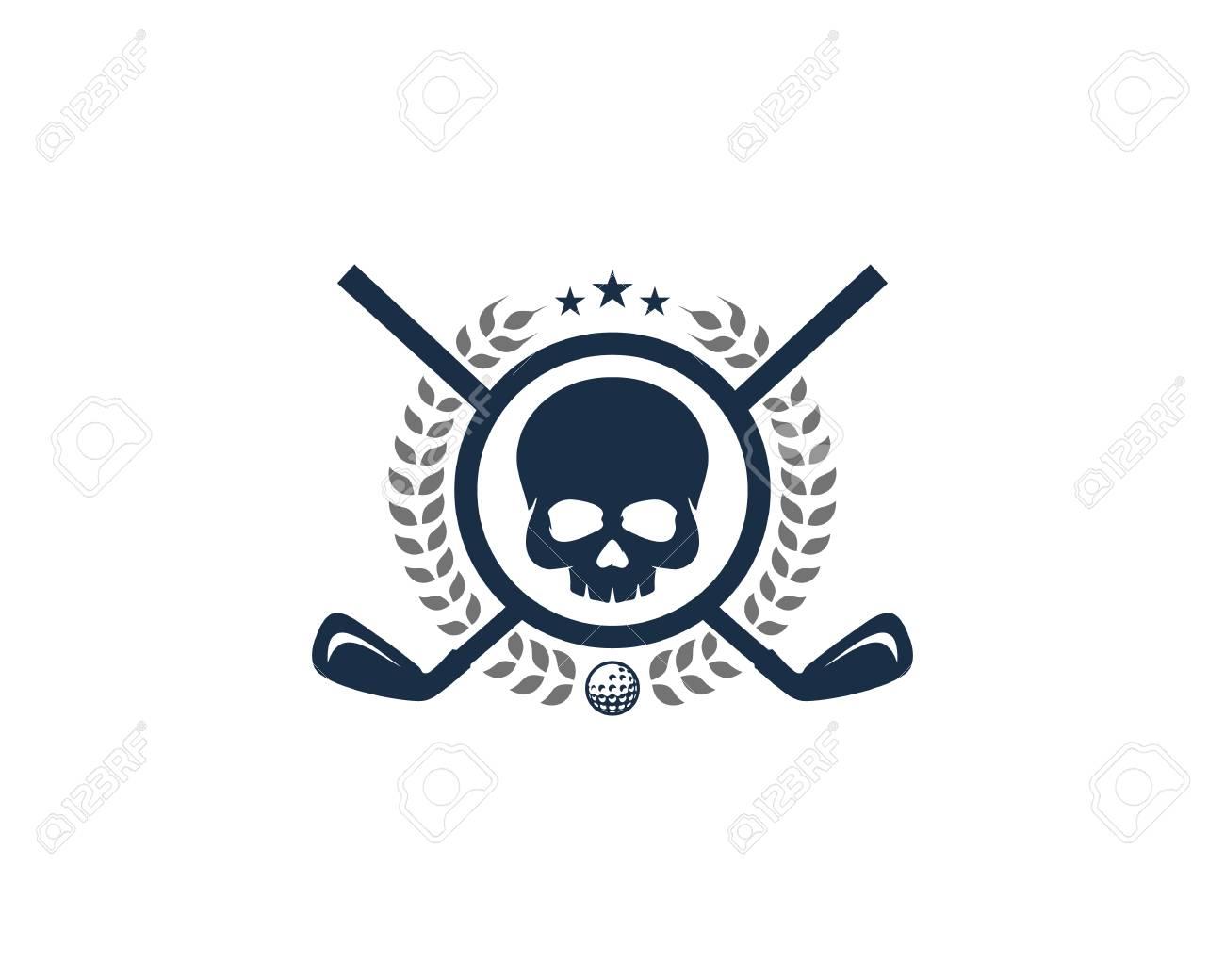 Skull Golf Icon Design - 101447957