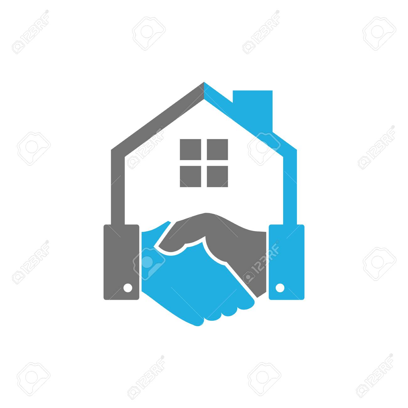 Handshake House Logo Icon Design - 101452874
