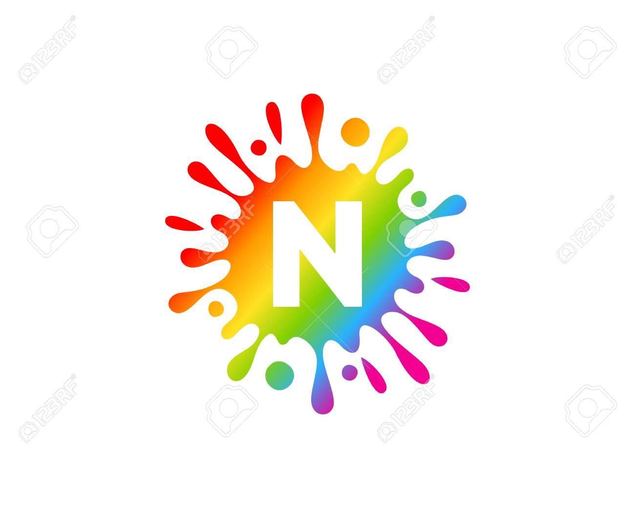 N Letter Splash Logo Icon Design - 101698916