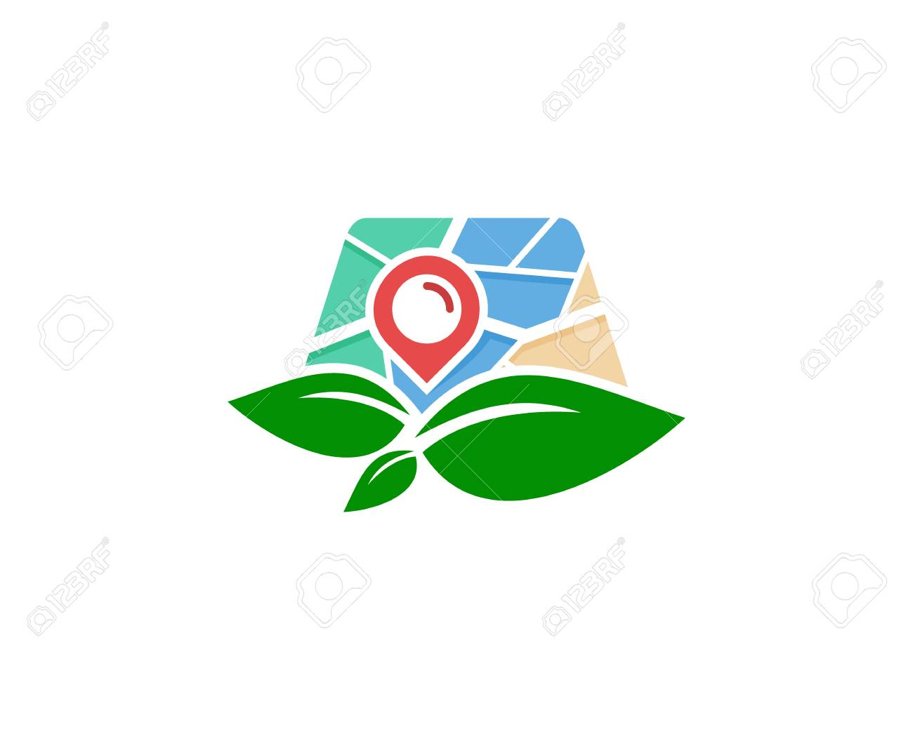 Eco Map Logo Icon Design Royalty Free Cliparts Vectors And Stock Illustration Image 101703164