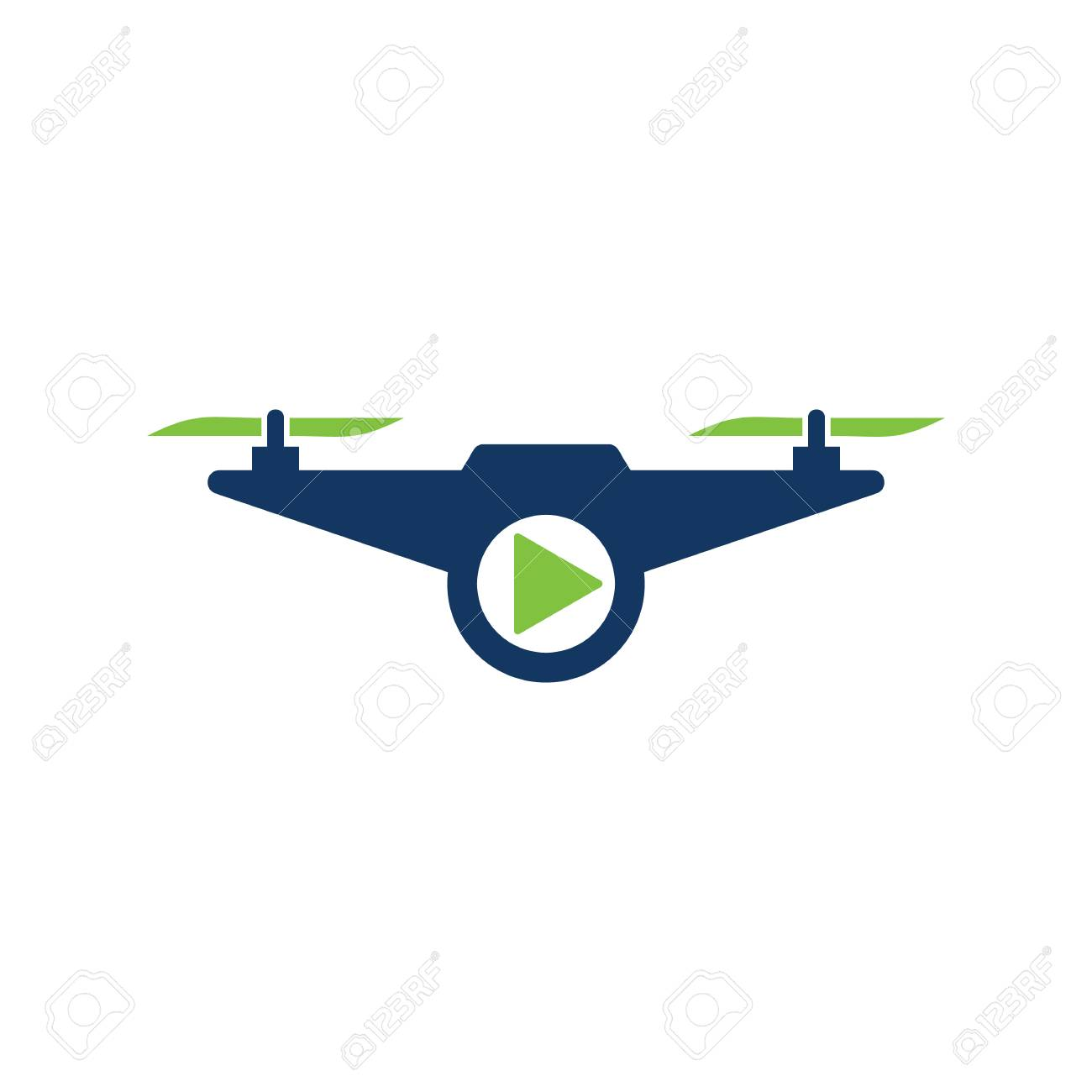 Drone Video Logo Icon Design