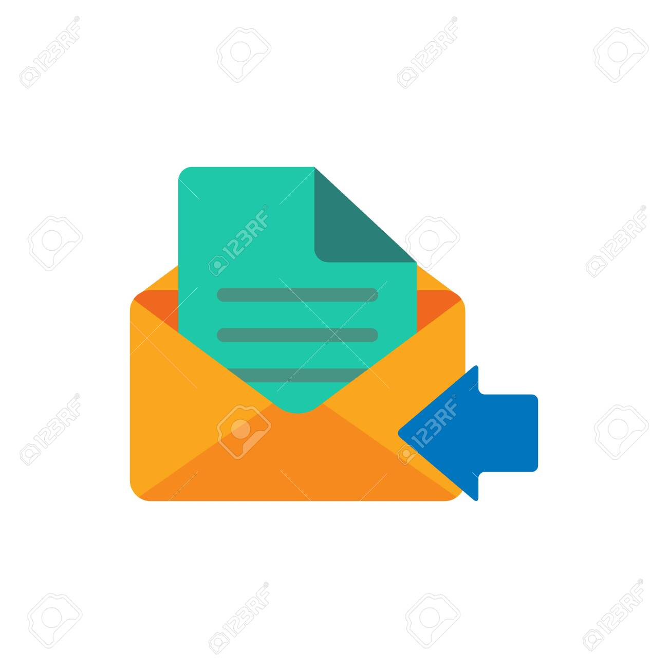 Receive Email Logo Icon Design - 106567635
