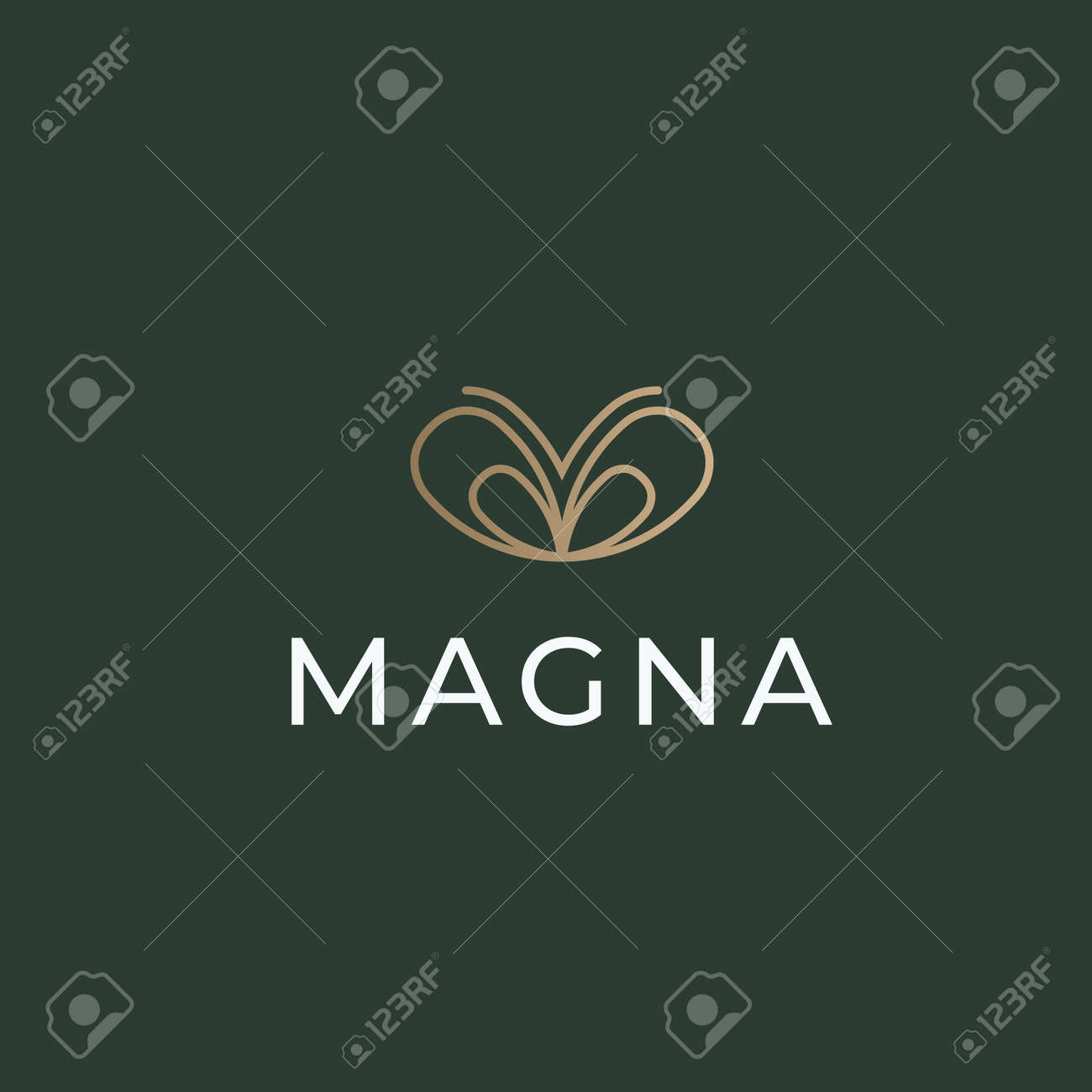 Butterfly line logo icon design vector - 167837741