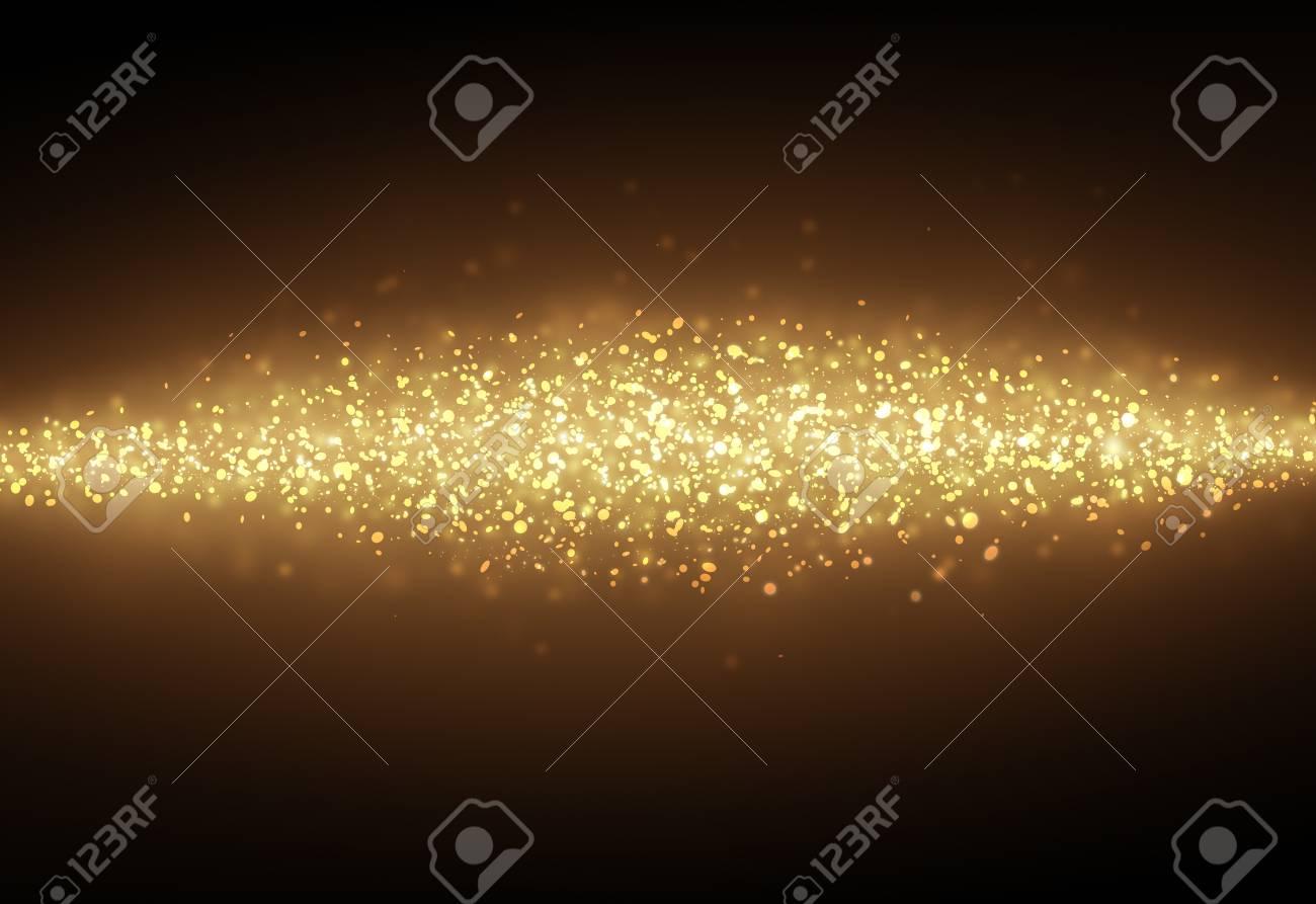 Dark Gold Glitter Sparkles Rays Lights Bokeh Festive Christmas