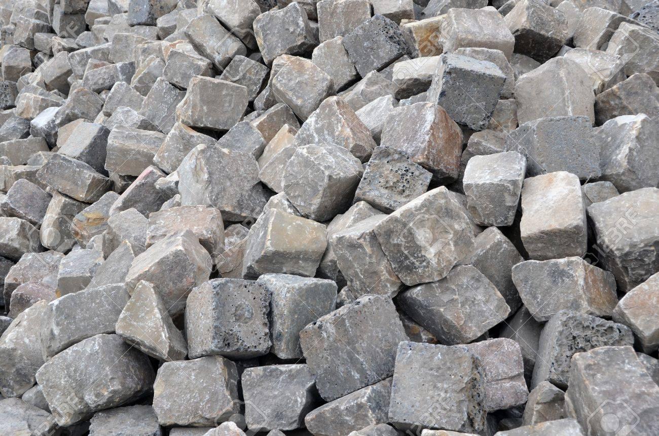 A pile of gray cobblestones Standard-Bild - 17209798