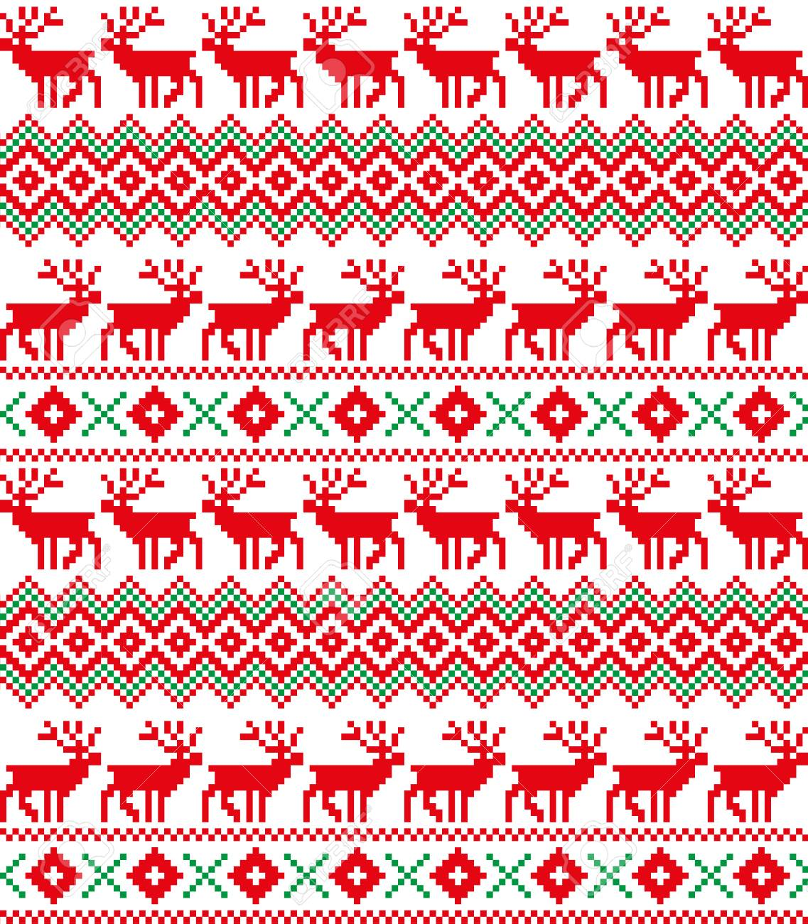 New Year S Christmas Pattern Pixel For Print Stock Photo Picture And Royalty Free Image Image 89133619