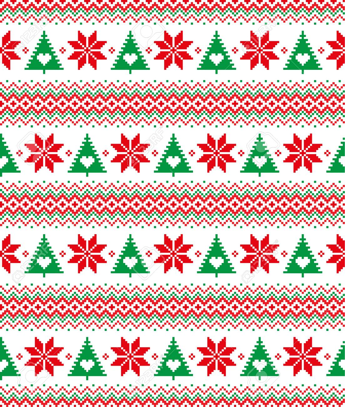 New Year S Christmas Pattern Pixel For Print Royalty Free Cliparts Vectors And Stock Illustration Image 90908137