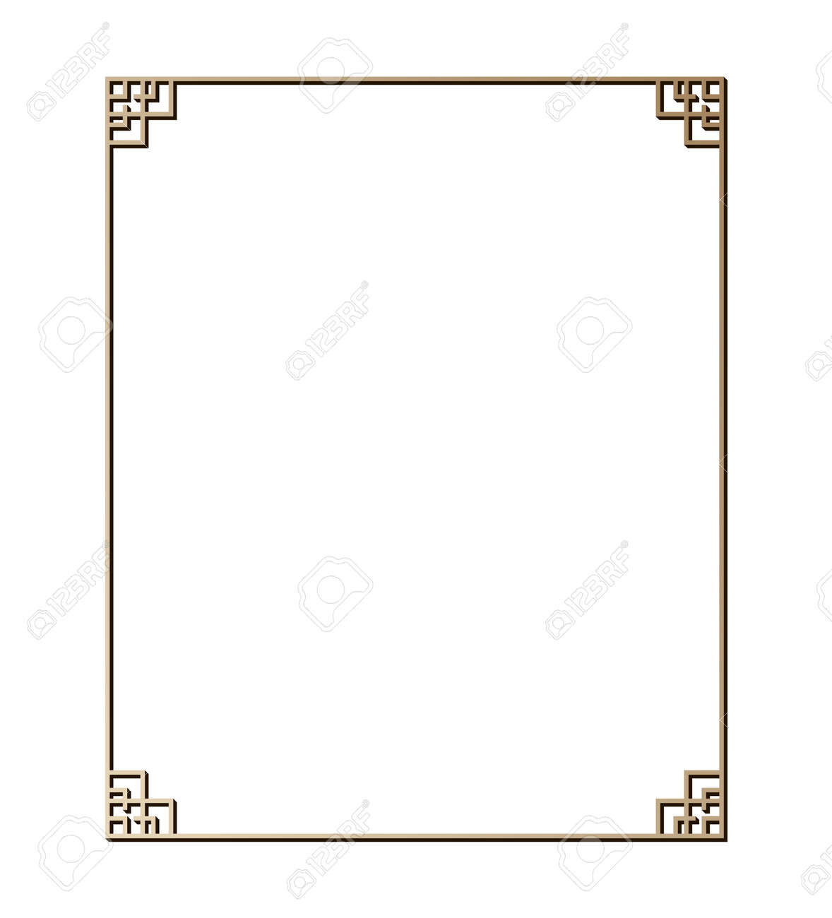 Vector illustration of art deco borders and frames. Creative pattern in the style of the 1920s for your design. - 146736080
