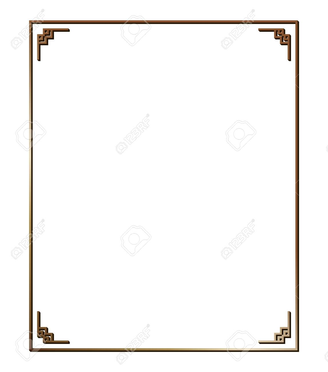 Vector illustration of art deco borders and frames. Creative pattern in the style of the 1920s for your design. - 146736084