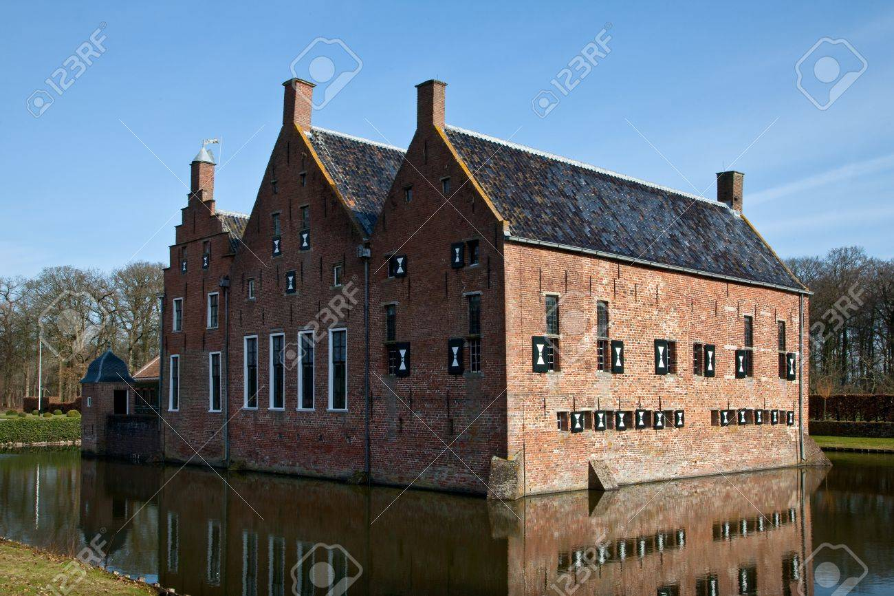 Old medieval mansion with water defence around Stock Photo - 6920450