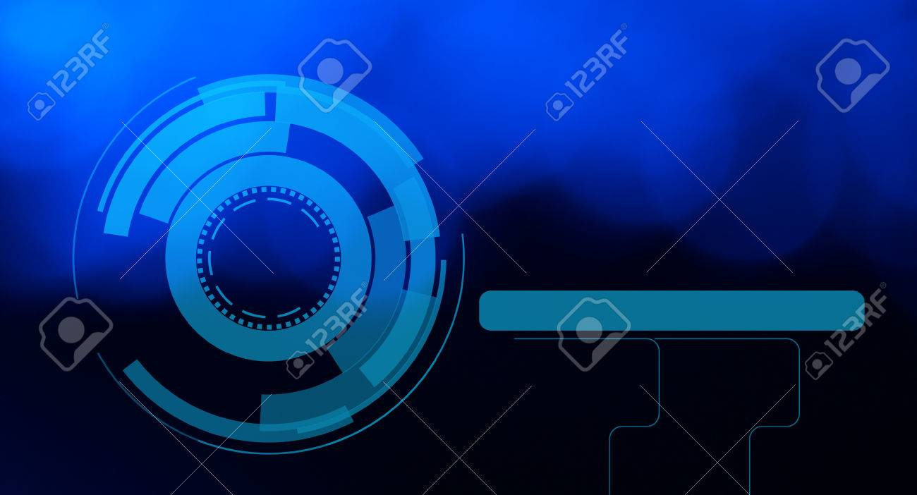Stock Photo - Visual hud graphics abstract blue background