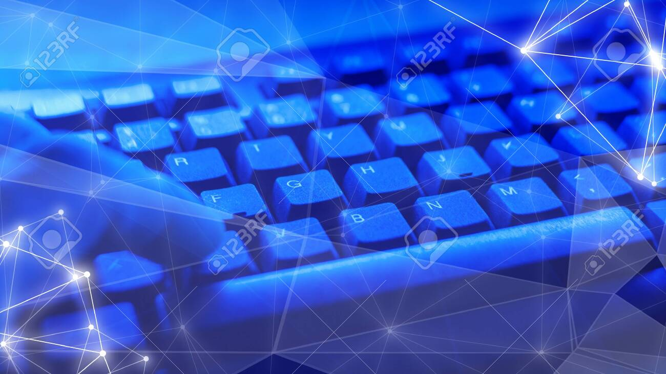 Computer cyber security at work, man cybercrime - 125965652