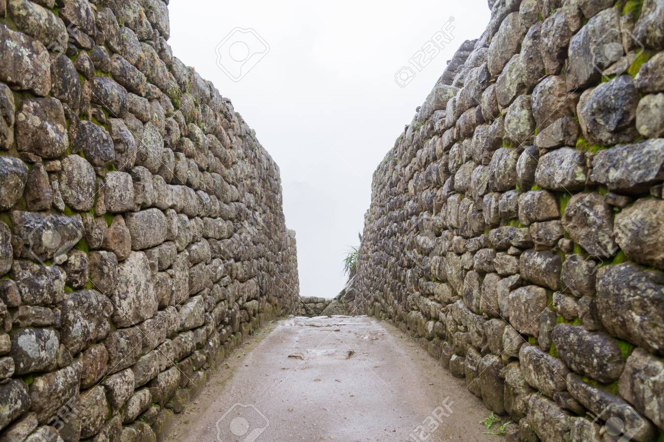 Full Frame Shot Of A Old Stone Wall Machu Picchu Stock Photo ...