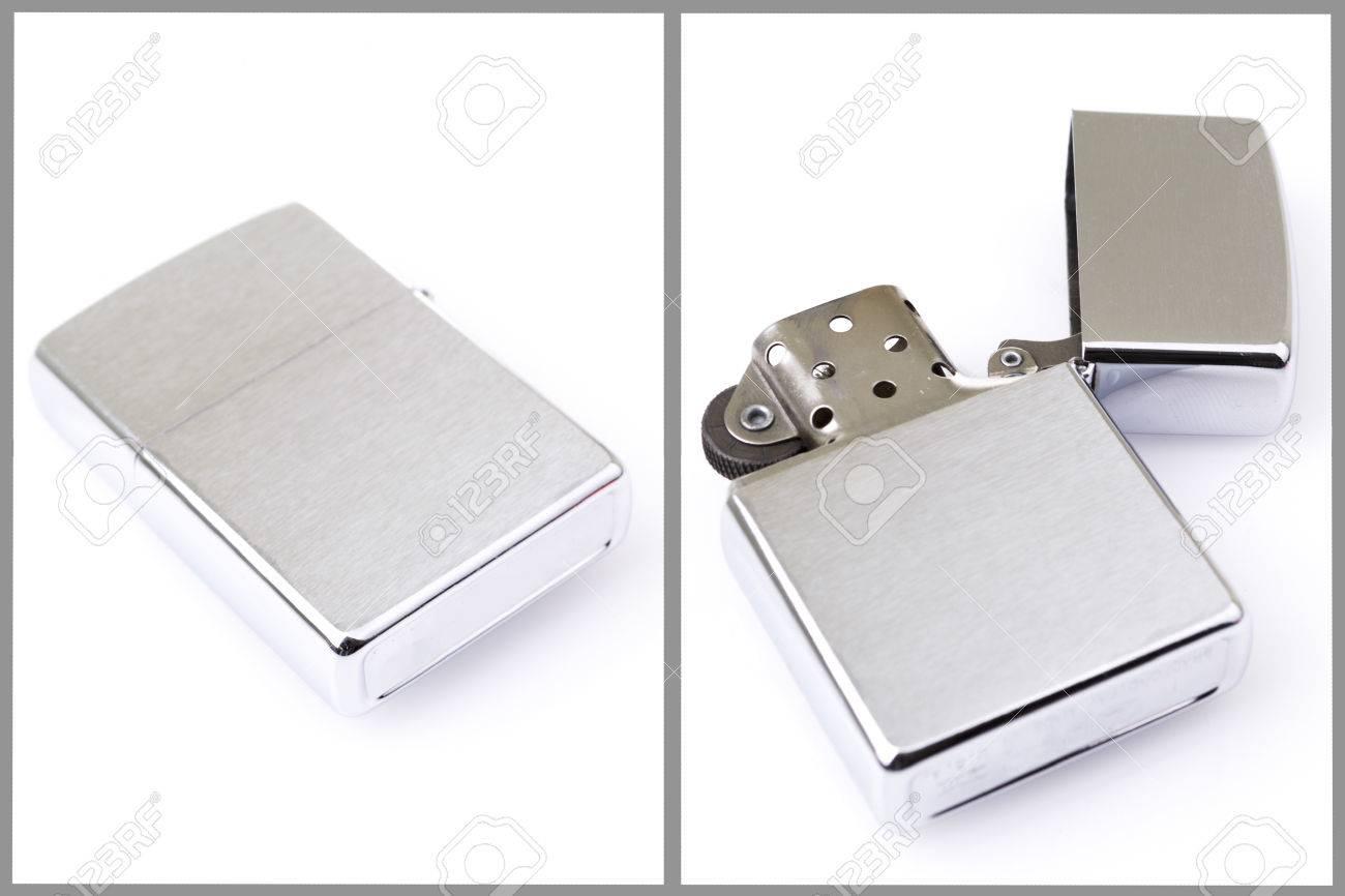 Silver metal lighter set Stock Photo - 25737547