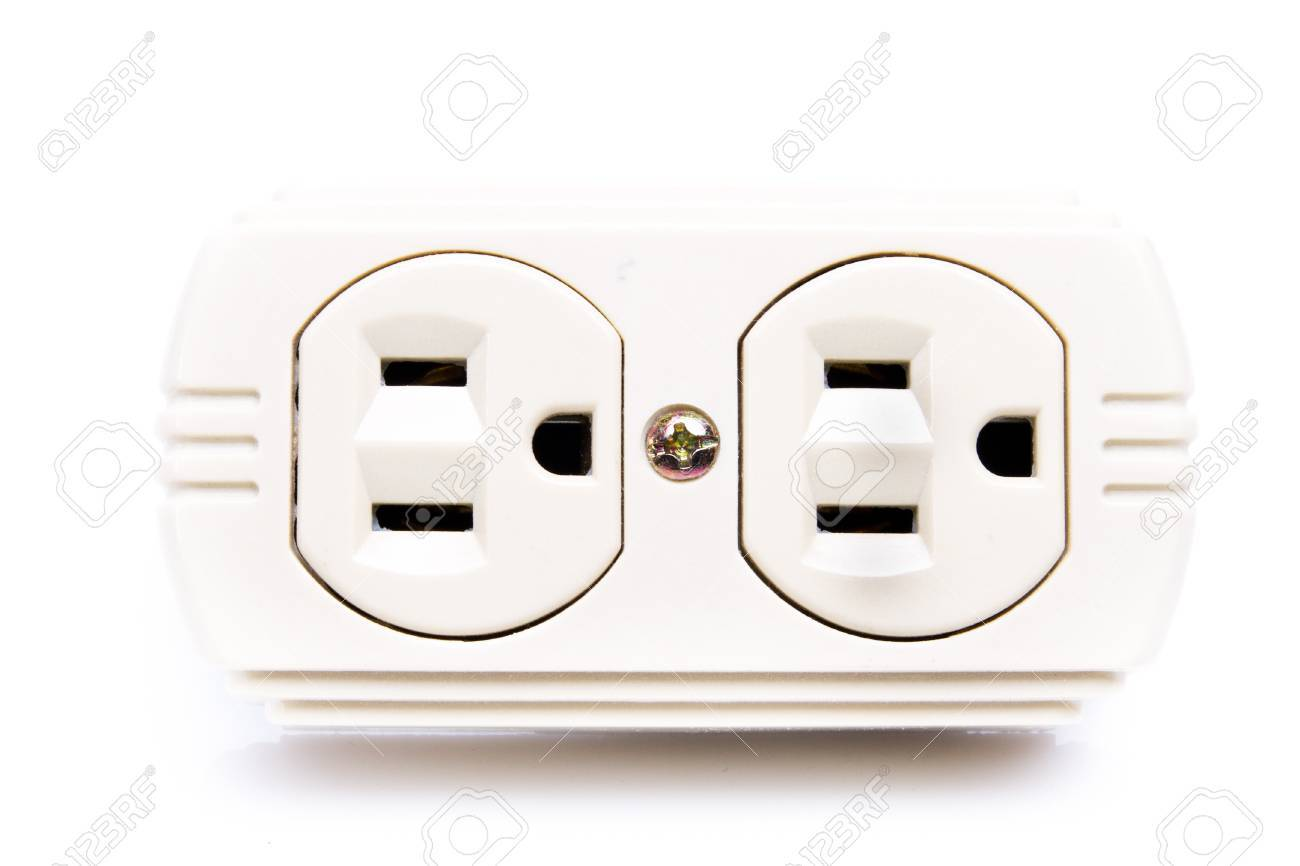 U.S. Electric Household Outlet Isolated - Stock Photo, Picture And ...