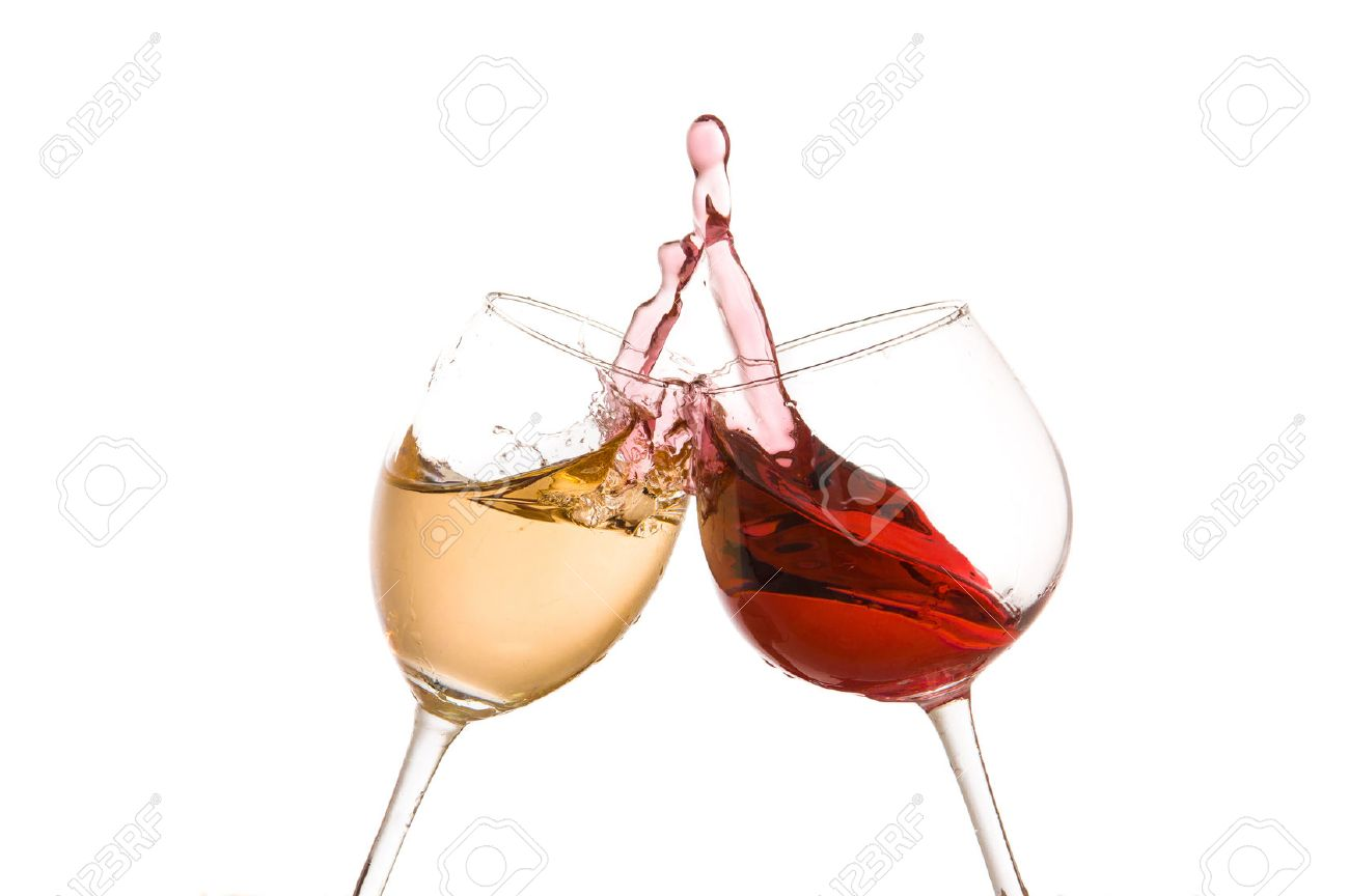 00f47f6a290f Stock Photo - wine glass toast on a white background