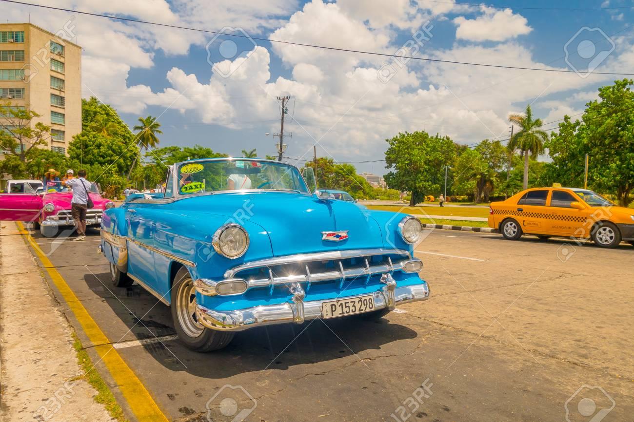HAVANA, CUBA - AUGUST 30, 2015: Old Classic American Cars Used ...