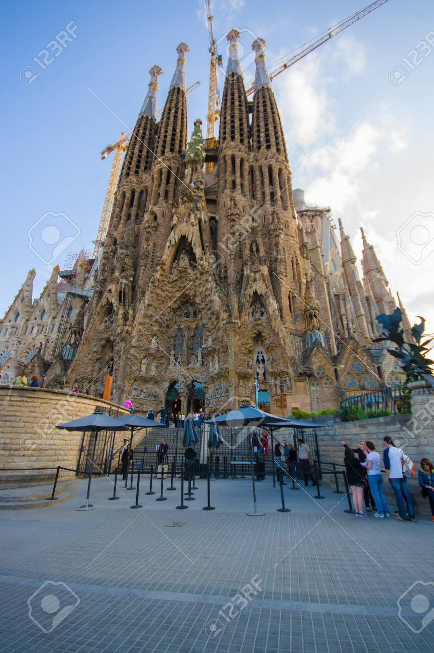 Barcelona Spain 8 August 2015 Spectacular Barcelona Church Stock Photo Picture And Royalty Free Image Image 45565490