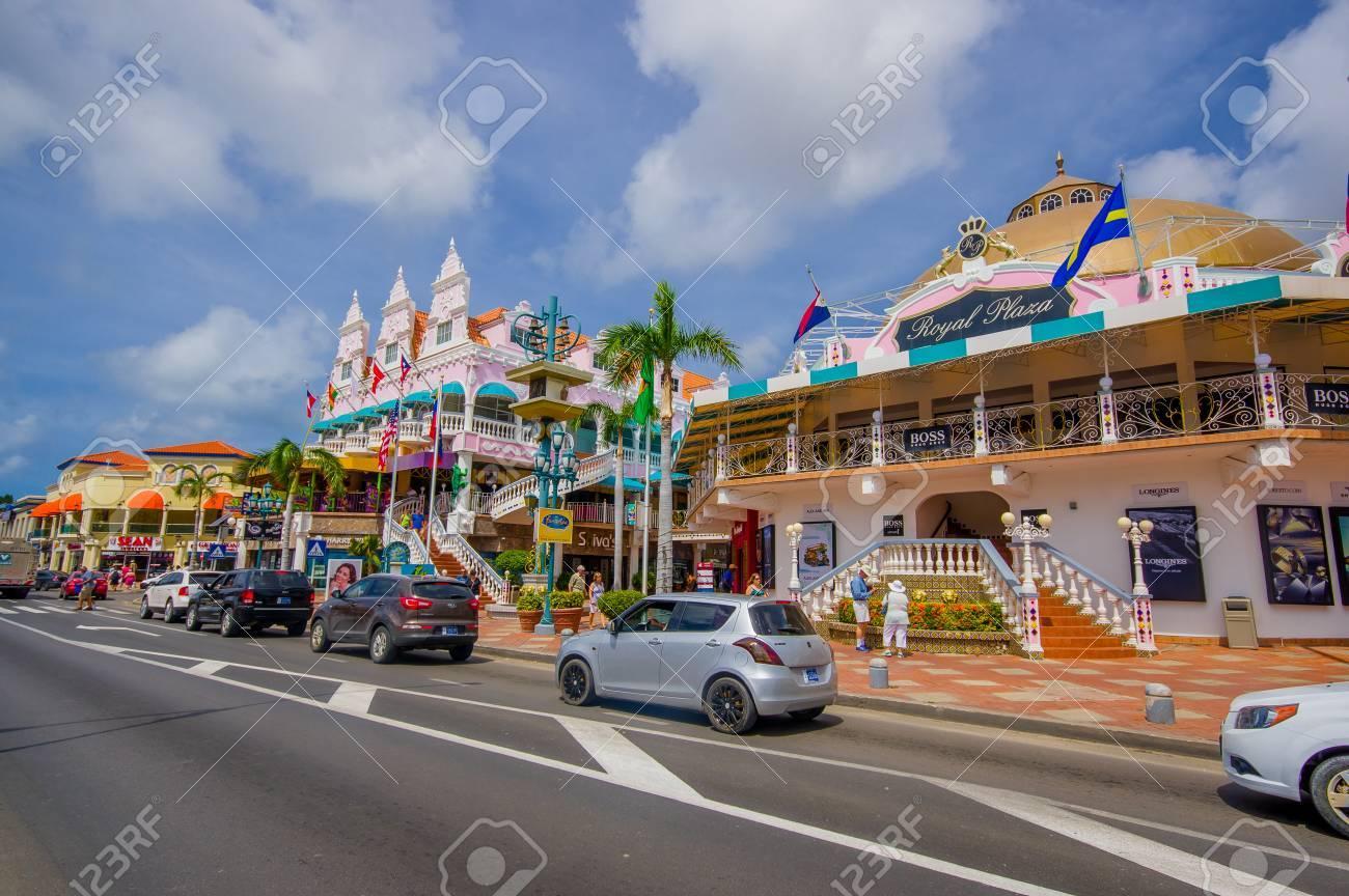 ORANJESTAD ARUBA NOVEMBER Downtown Port And Shopping - Cruise ships in aruba