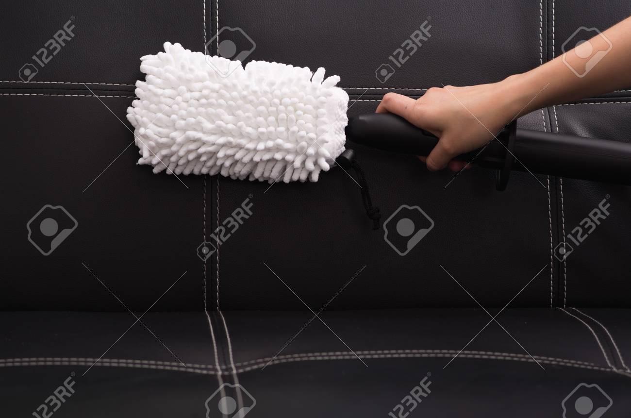 Tissu Blanc Brosse De La Machine De Nettoyage à La Vapeur Utilisée