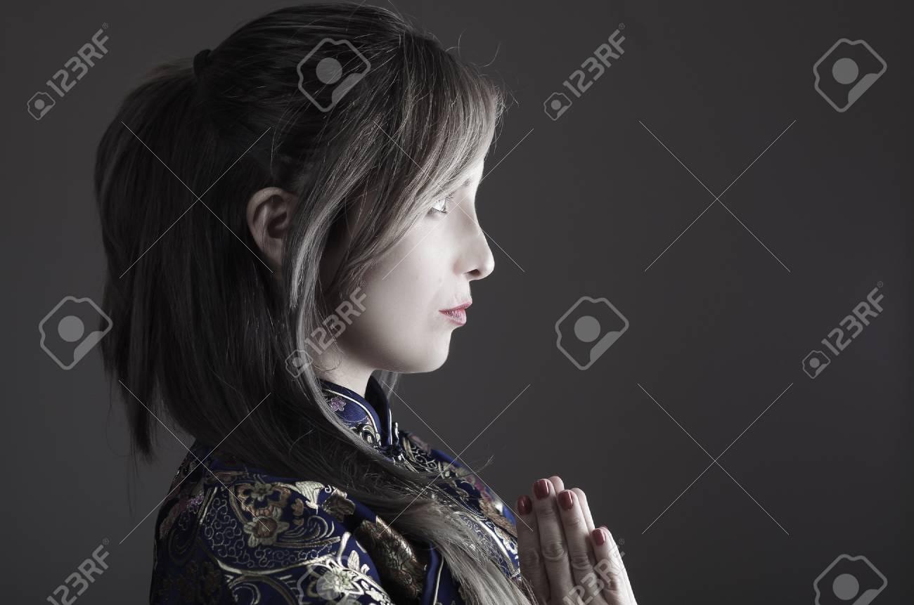 asiatische samurai girl