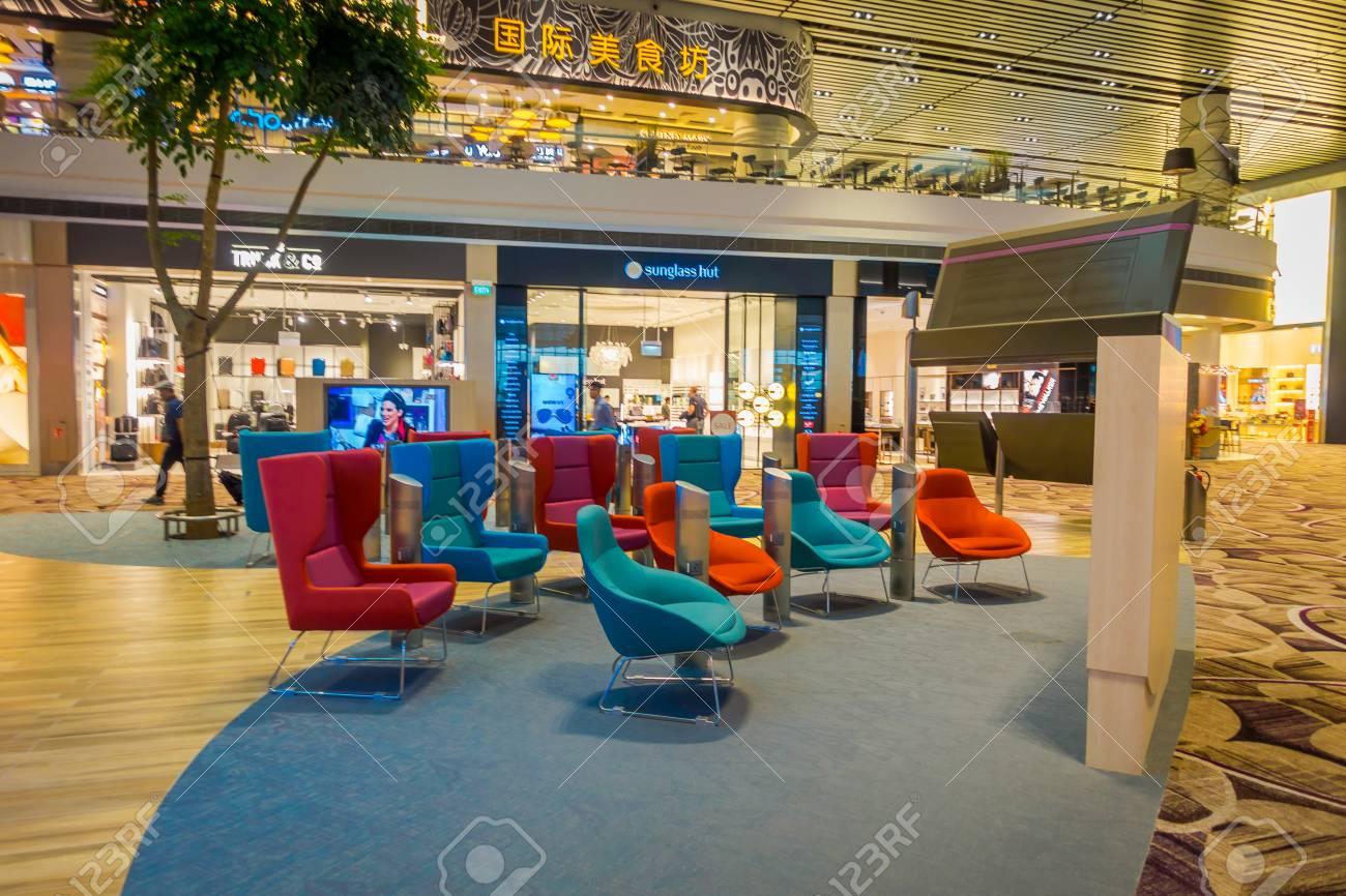 SINGAPORE, SINGAPORE - JANUARY 30, 2018: Gorgeous indoor view