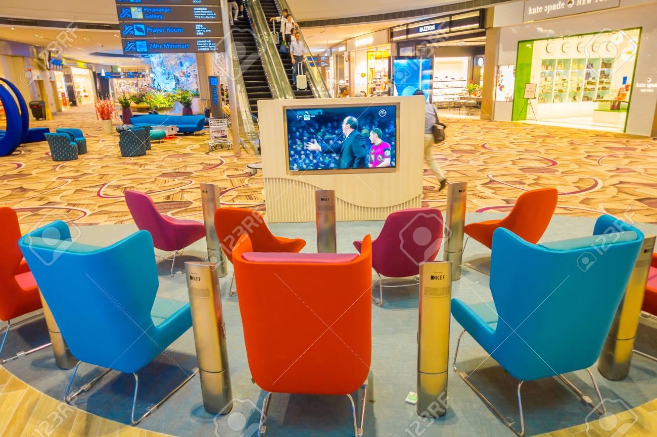 SINGAPORE, SINGAPORE - JANUARY 30, 2018: Indoor view of waiting