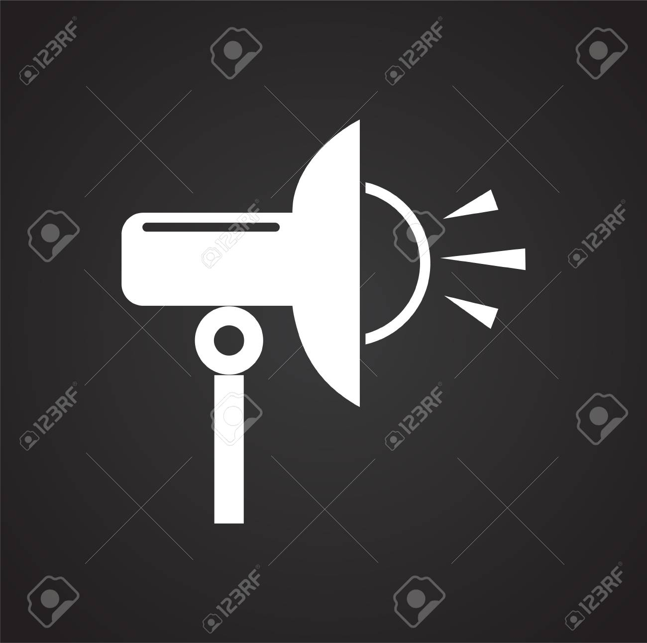 Studio Flash Strobe Icon On Black Background For Graphic And Stock Photo Picture And Royalty Free Image Image 113219090