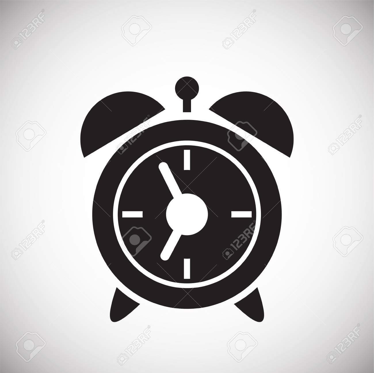 Alarm clock icon on white background for graphic and web design,