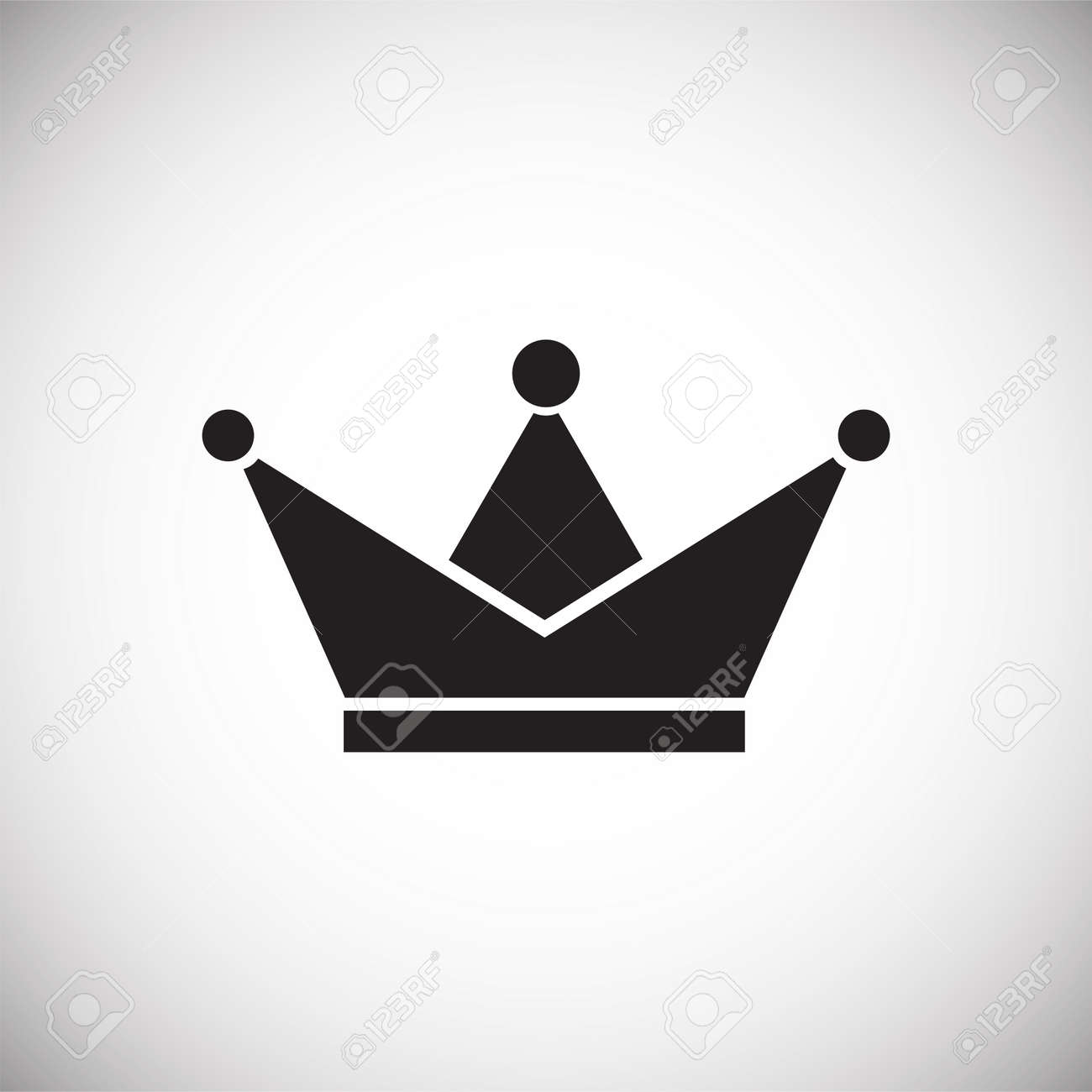 Crown icon on white background for graphic and web design, Modern simple vector sign. Internet concept. Trendy symbol for website design web button or mobile app. - 125943783