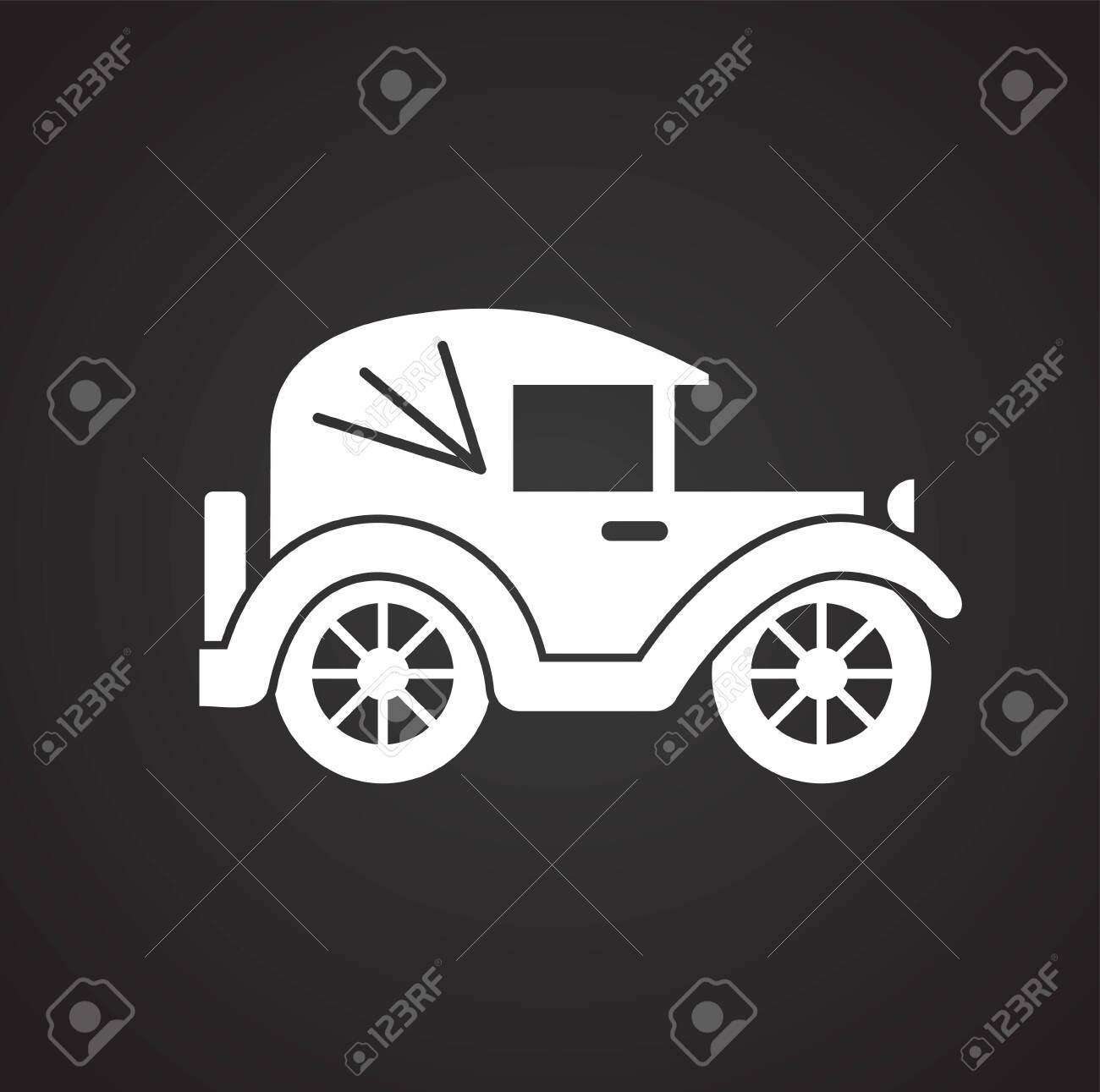Car Icon On Background For Graphic And Web Design Simple Vector Stock Photo Picture And Royalty Free Image Image 118078769