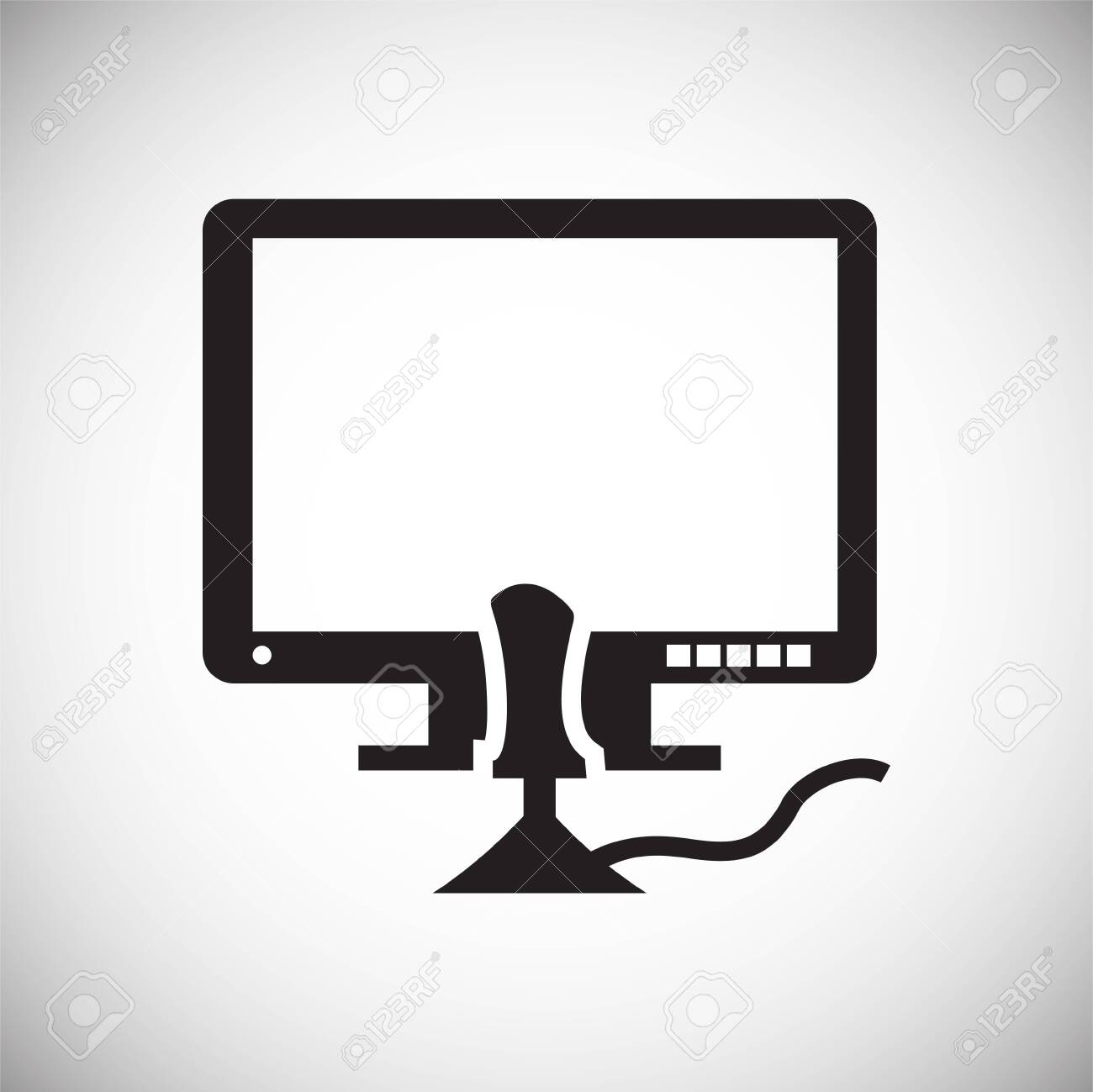 Gaming icon on background for graphic and web design. Simple vector sign. Internet concept symbol for website button or mobile app. - 120469464