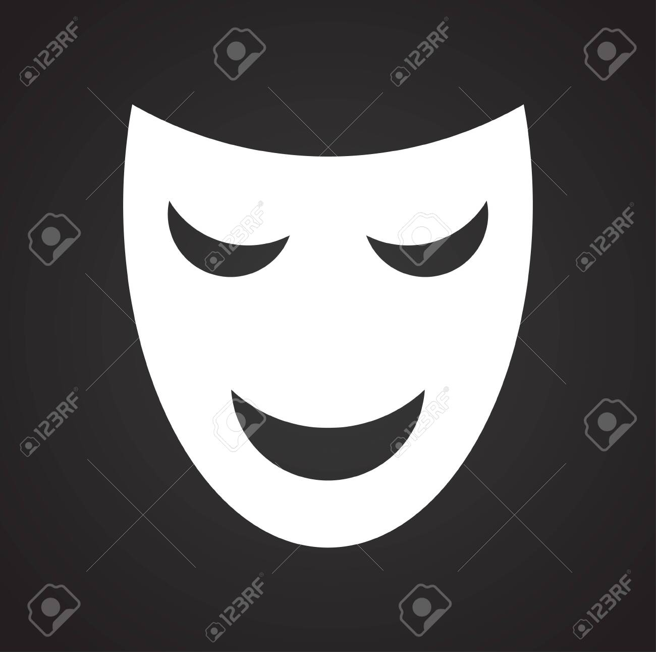 Masks icon on background for graphic and web design. Simple vector sign. Internet concept symbol for website button or mobile app. - 120661395