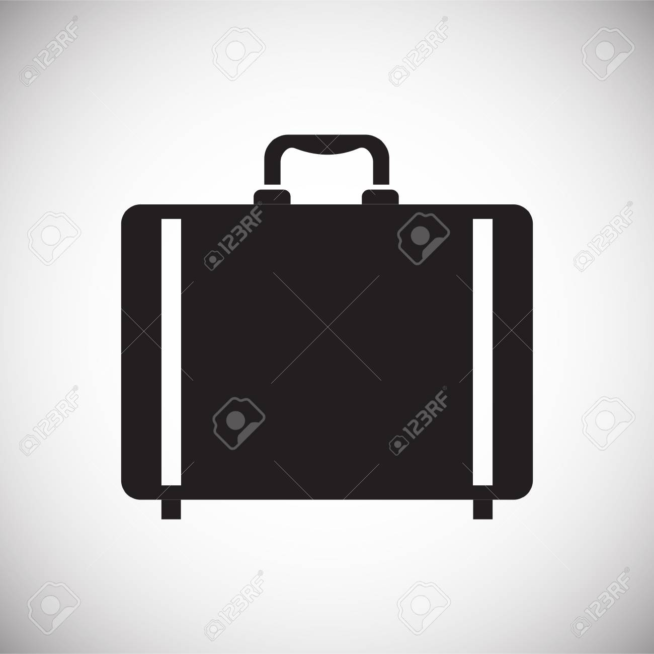 Case icon on background for graphic and web design. Simple vector sign. Internet concept symbol for website button or mobile app - 123039572