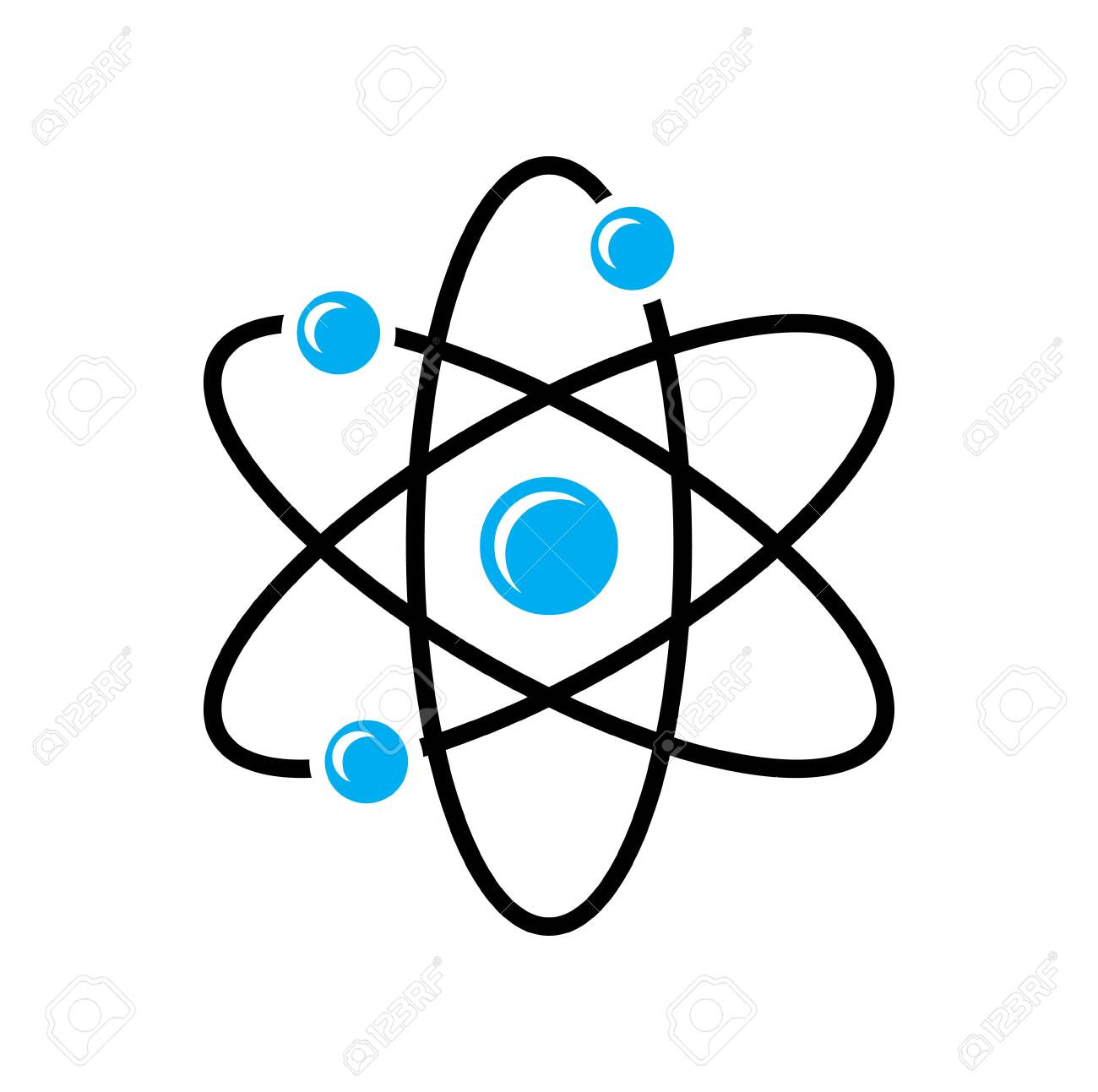Molecule icon on background for graphic and web design. Simple vector sign. Internet concept symbol for website button or mobile app. - 123802487