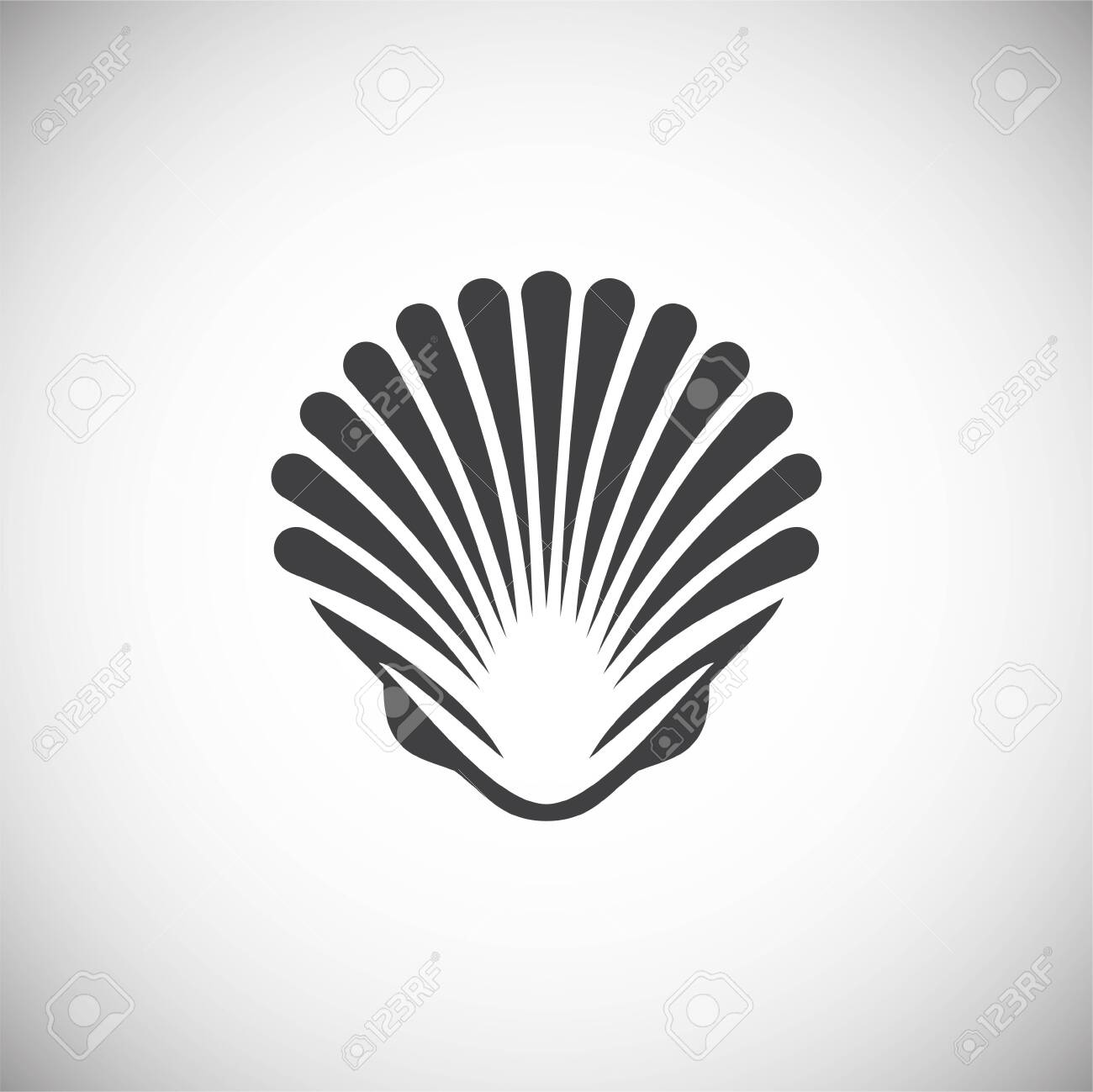 Seafood related icon on background for graphic and web design. Simple illustration. Internet concept symbol for website button or mobile app - 125185856