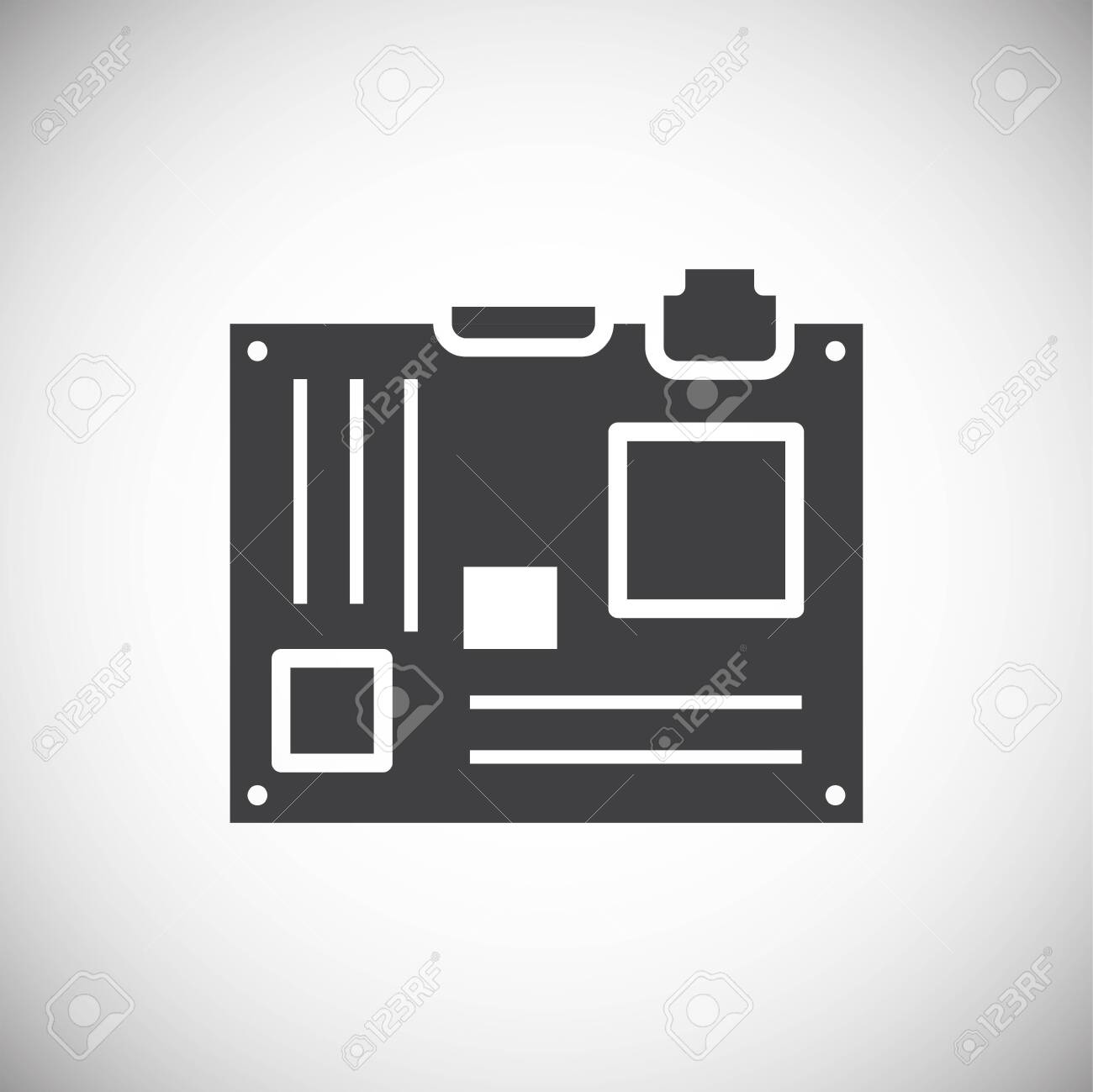 Computer hardware icon on background for graphic and web design. Simple illustration. Internet concept symbol for website button or mobile app - 150814556