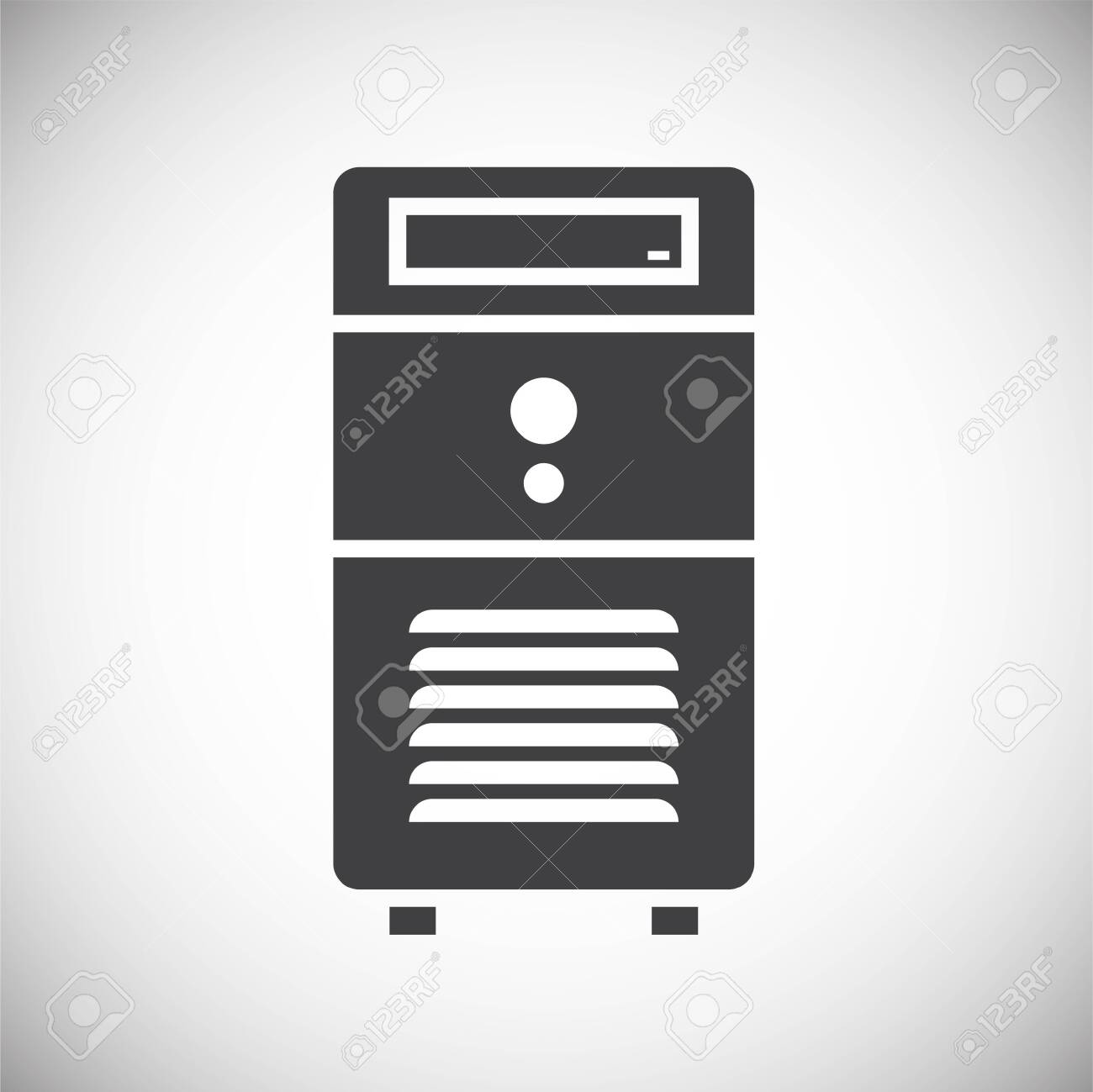 Computer hardware icon on background for graphic and web design. Simple illustration. Internet concept symbol for website button or mobile app - 150814558