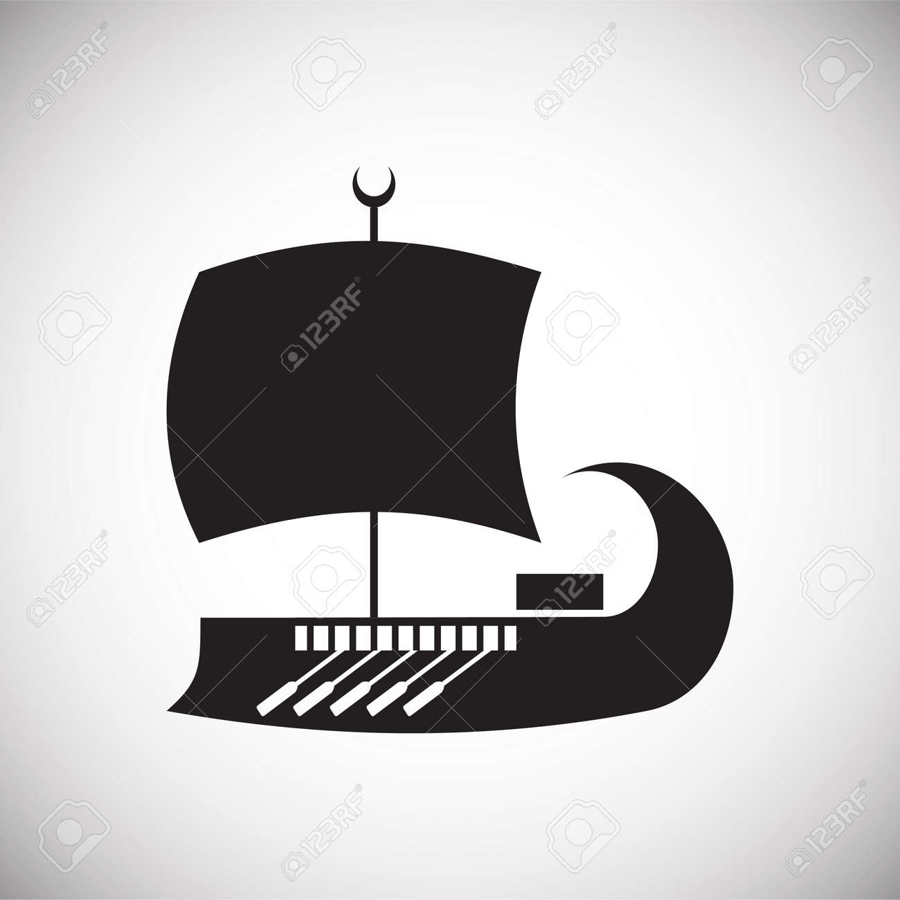 Ship icon on background for graphic and web design. Simple vector sign. Internet concept symbol for website button or mobile app - 150814568
