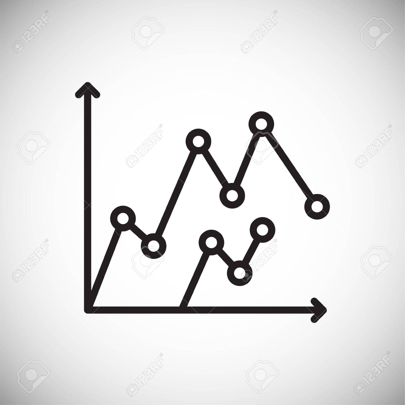Graph line icon on background for graphic and web design. Simple vector sign. Internet concept symbol for website button or mobile app - 150727317
