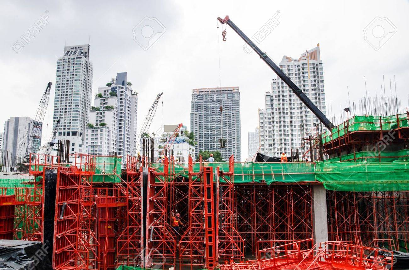Colour Of Building Structure In Construction Stock Photo, Picture ...