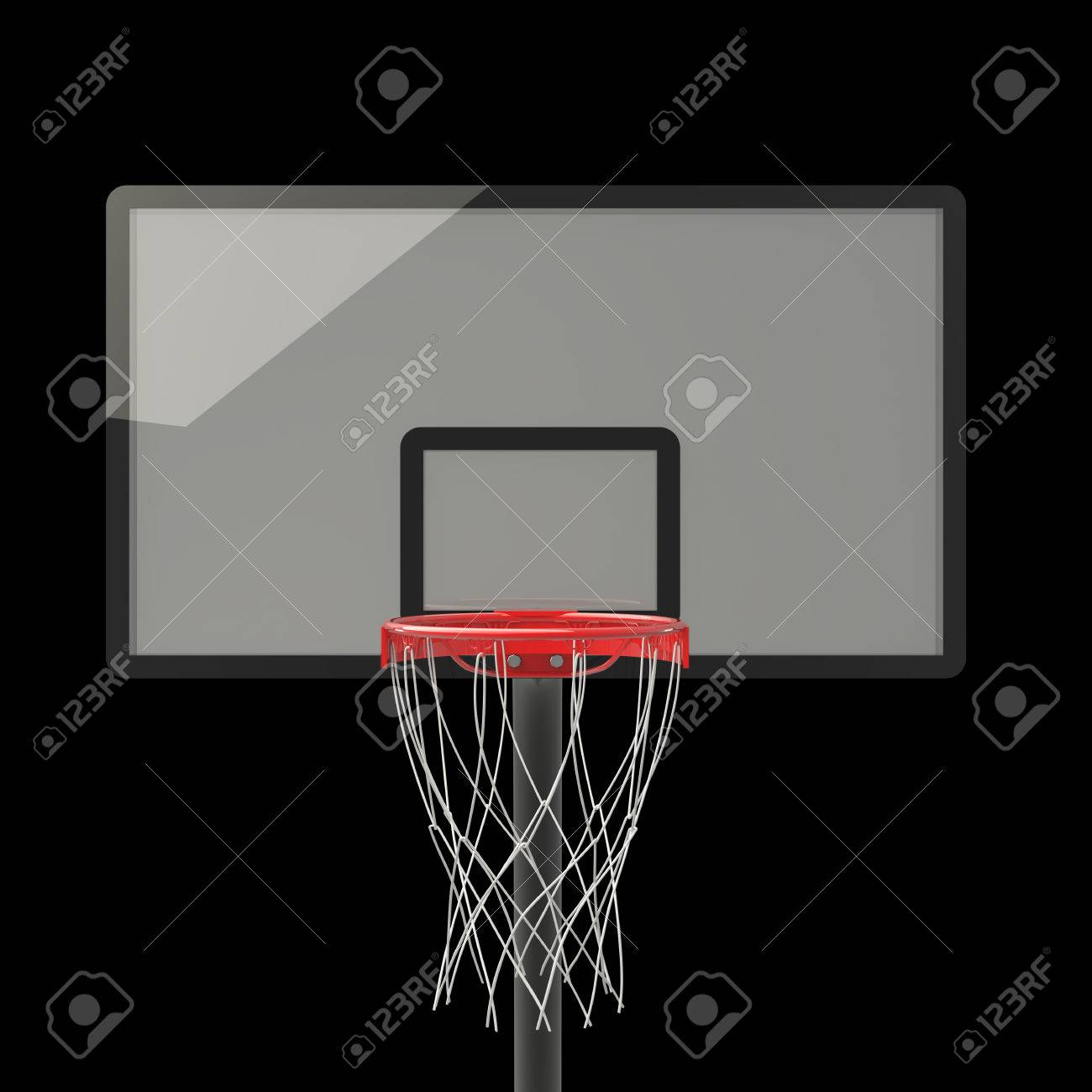 Basketball Hoop. Isolated On Black Background. 3D Image Stock ...