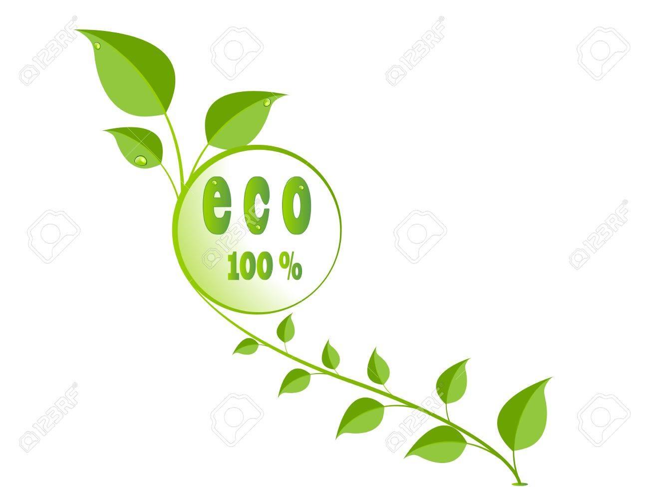 green eco leaves logo Stock Vector - 9319982