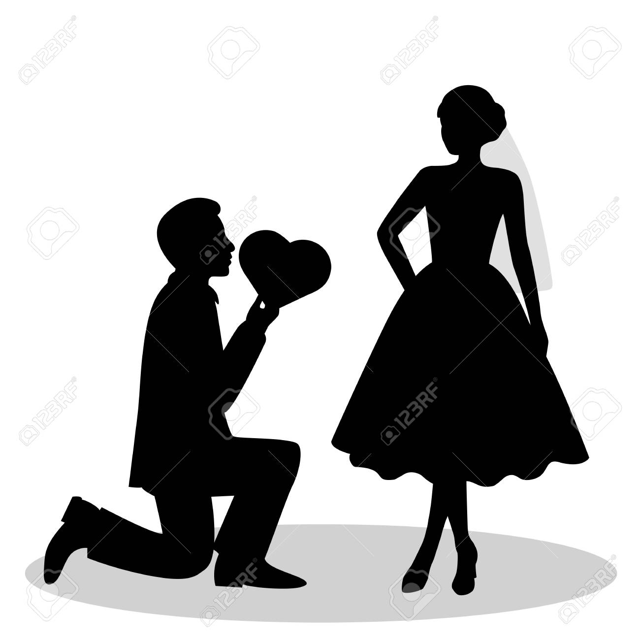 the black silhouette of a bride and groom isolated on white rh 123rf com bride and groom vector free bride and groom vector art