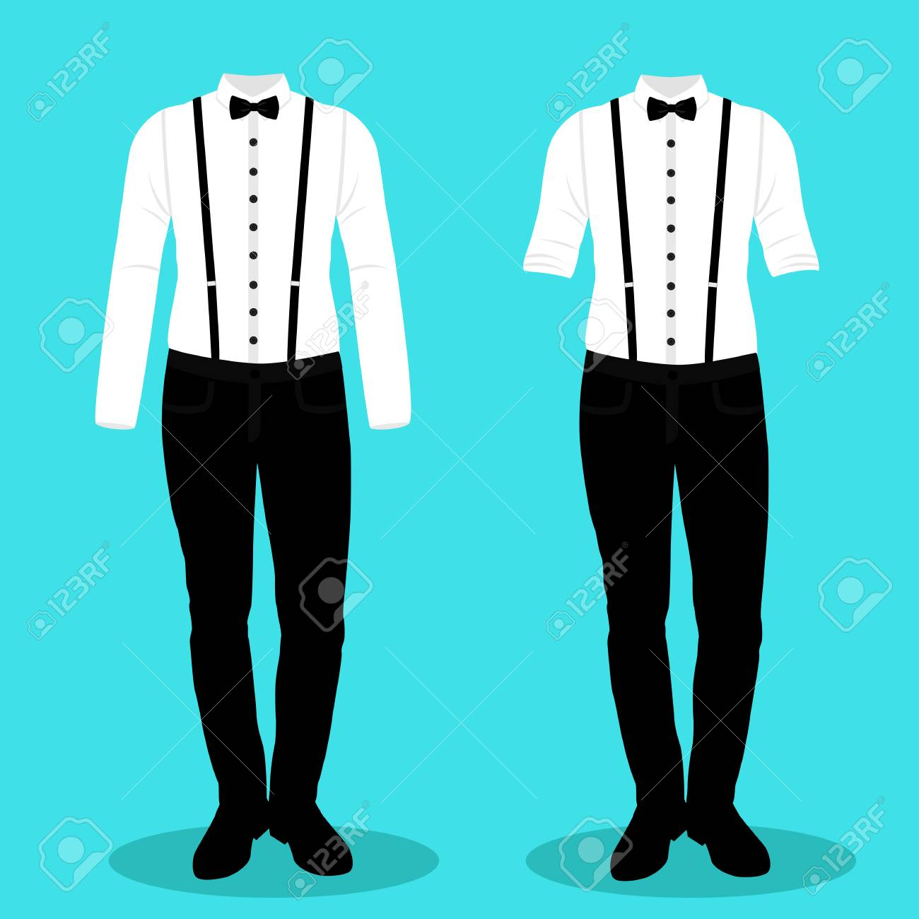Collection. Clothing. Wedding Men\'s Suit, Tuxedo Vector Illustration ...