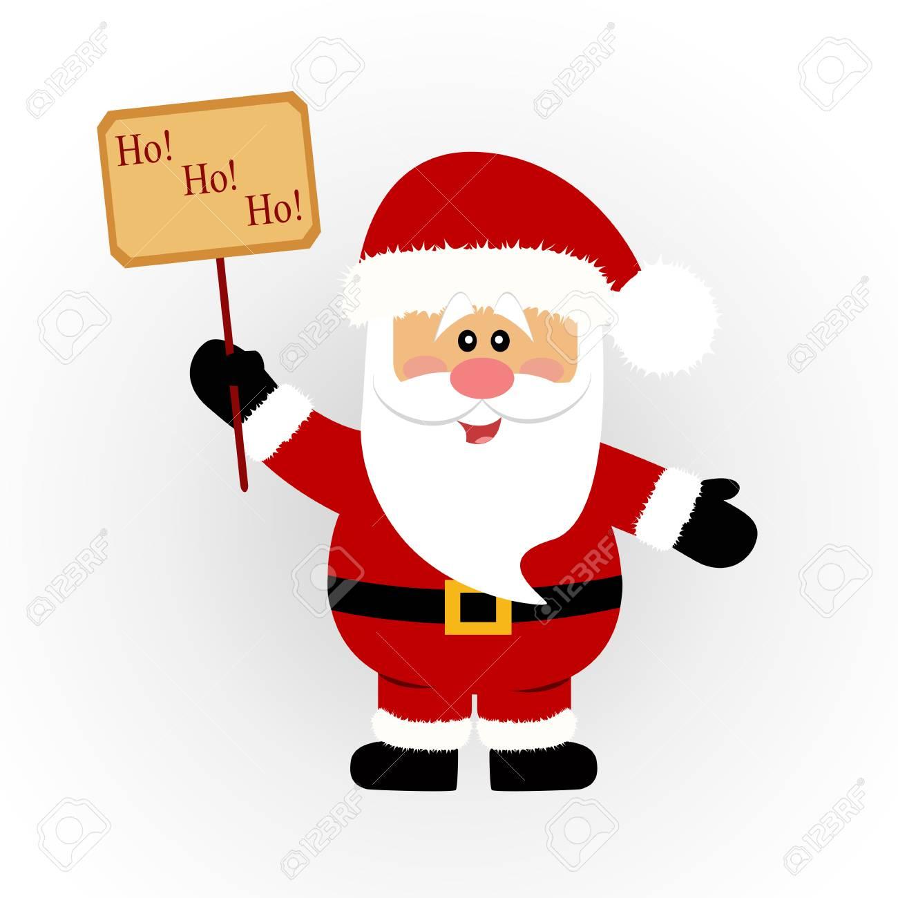 Christmas card. Santa. Santa with a sign. Vector Illustration - 90178884