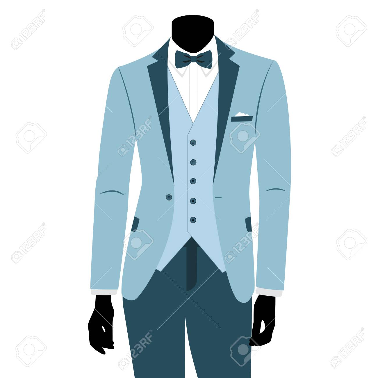Wedding Mens Suit And Tuxedo. Royalty Free Cliparts, Vectors, And ...